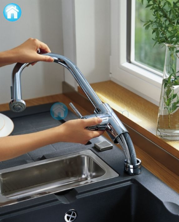 Hansgrohe Talis S 178 Variarc Kitchen Mixer With Pull Out